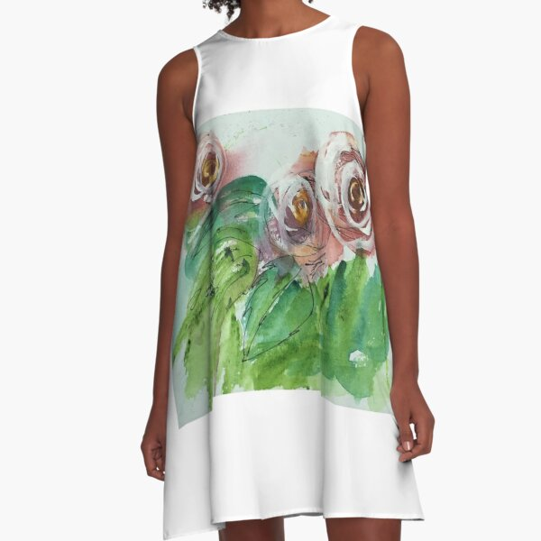 Wild roses A-Line Dress