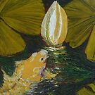 Golden Koi and Lilly Pond by OriginalbyParis