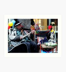 Busy busking  Art Print