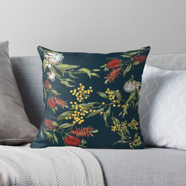 Australian flowers Throw Pillow