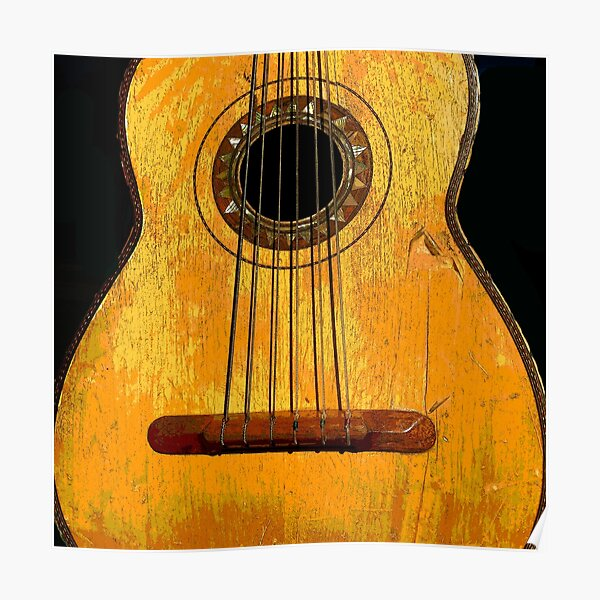 Southwest Guitaron (Mexican Bass Guitar) Poster