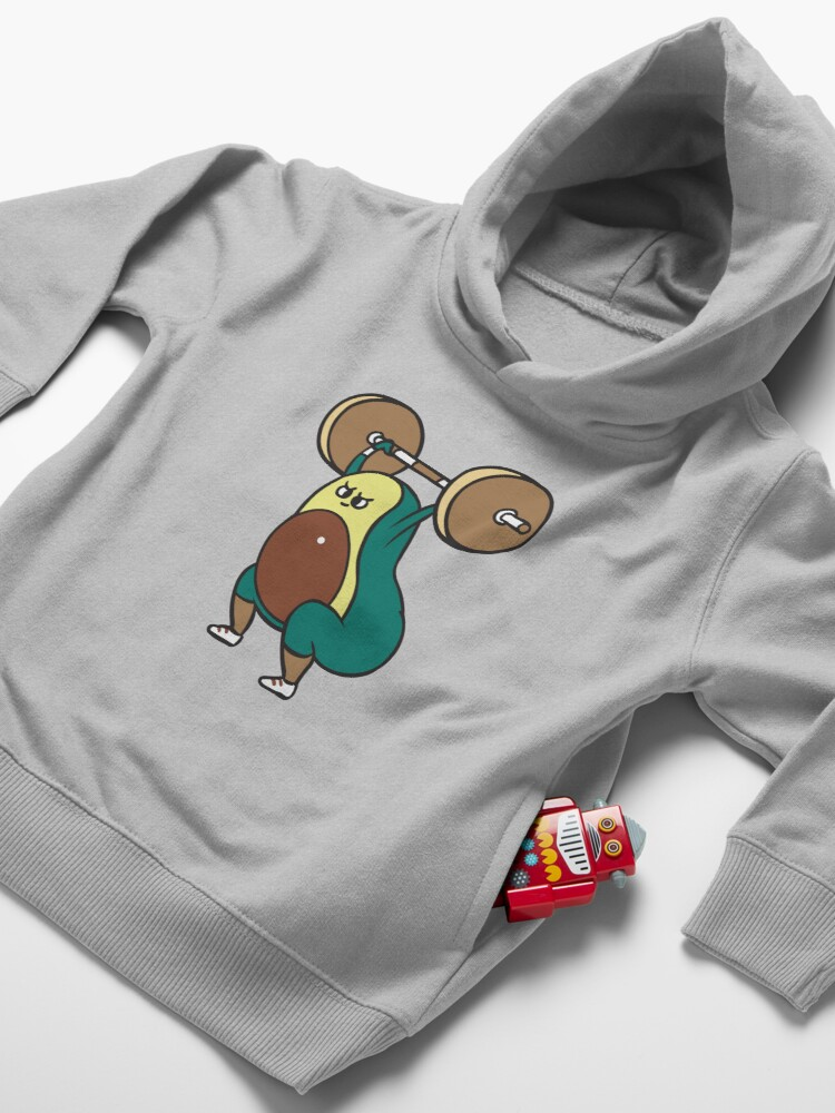 Alternate view of The snatch weightlifting Avocado Toddler Pullover Hoodie