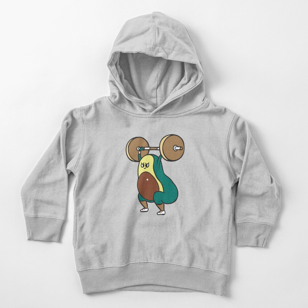 The snatch weightlifting Avocado Toddler Pullover Hoodie