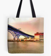 Shoreway Bridge Tote Bag
