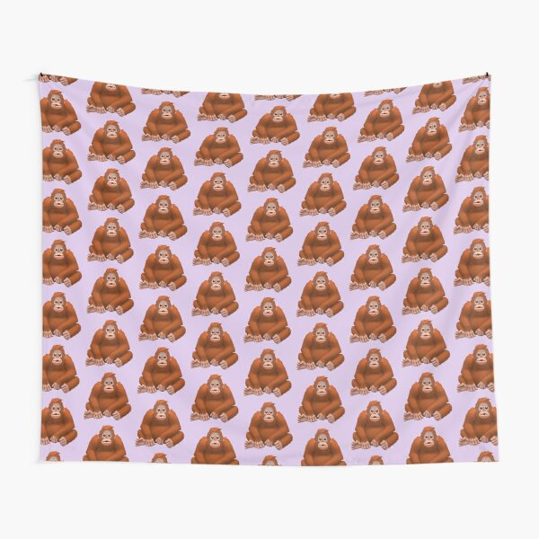 Orangutan Emoji Tapestry