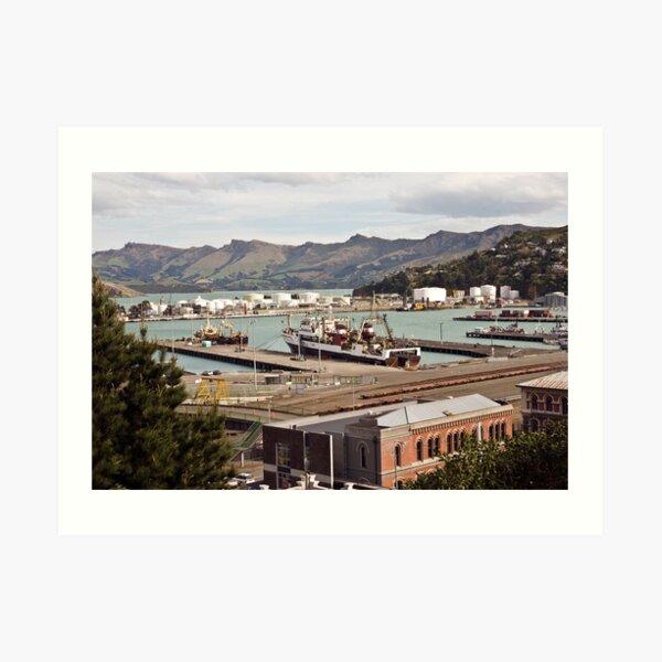 Lyttleton Harbour from Sumner Terrace Art Print