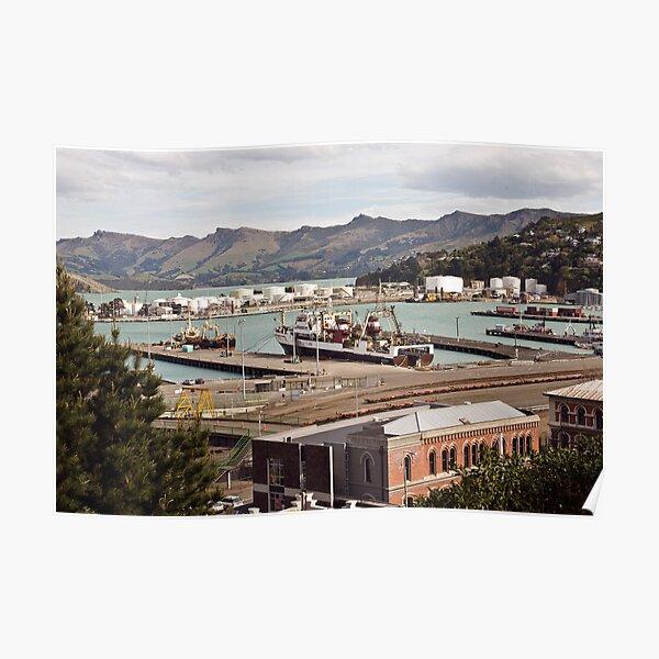 Lyttleton Harbour from Sumner Terrace Poster