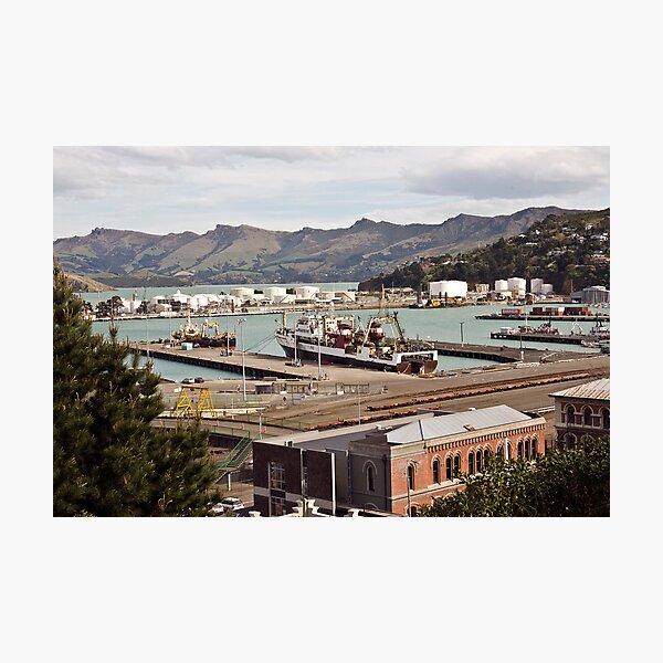 Lyttleton Harbour from Sumner Terrace Photographic Print