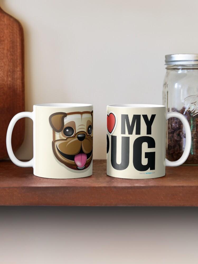 Alternate view of I Love My Pug Mug