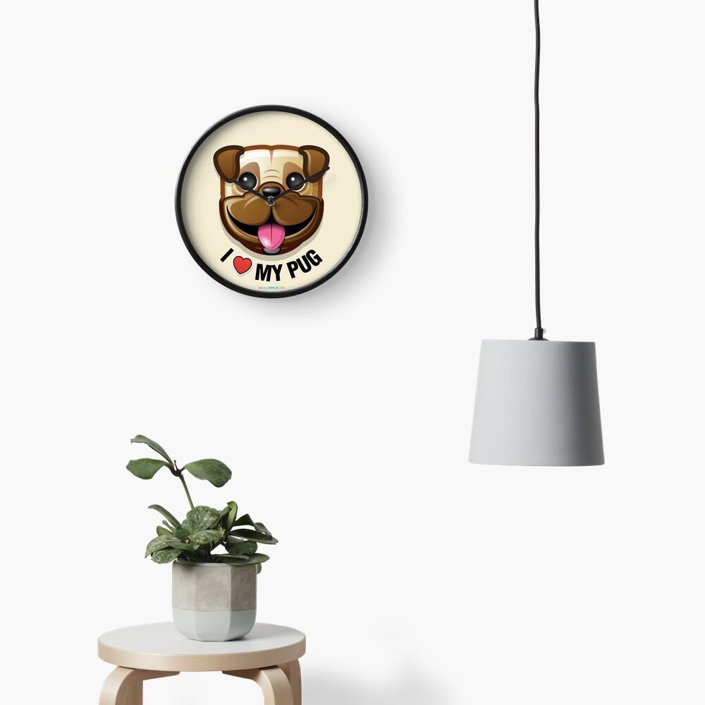 I Love My Pug Clock