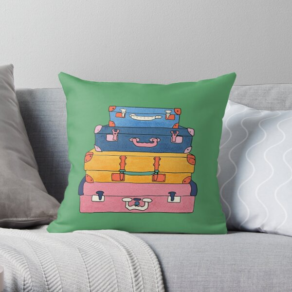 Travelling Luggage Throw Pillow