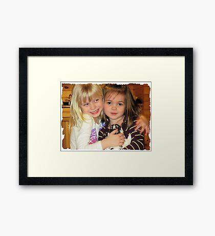 Cousins & The Bunny Framed Print