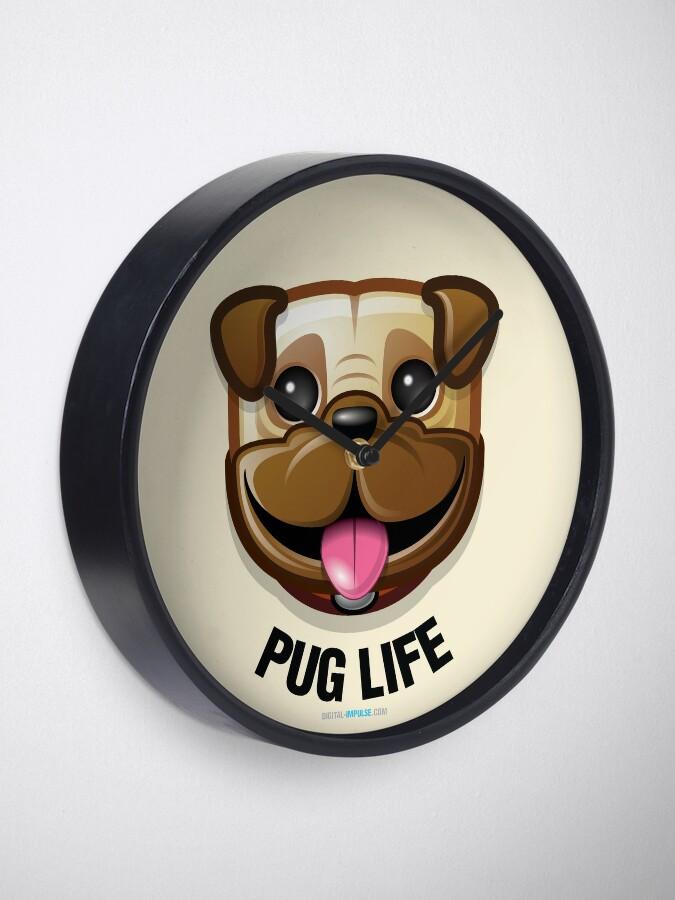 Alternate view of Pug Life Clock