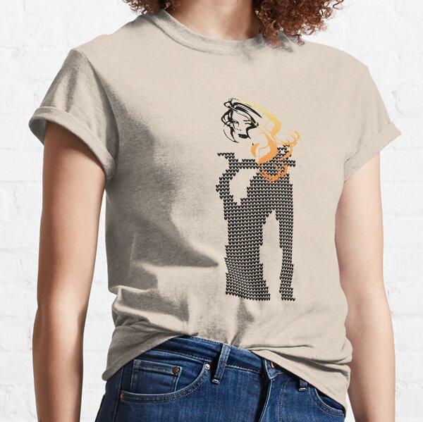 Dame im Strickkleid rot Classic T-Shirt