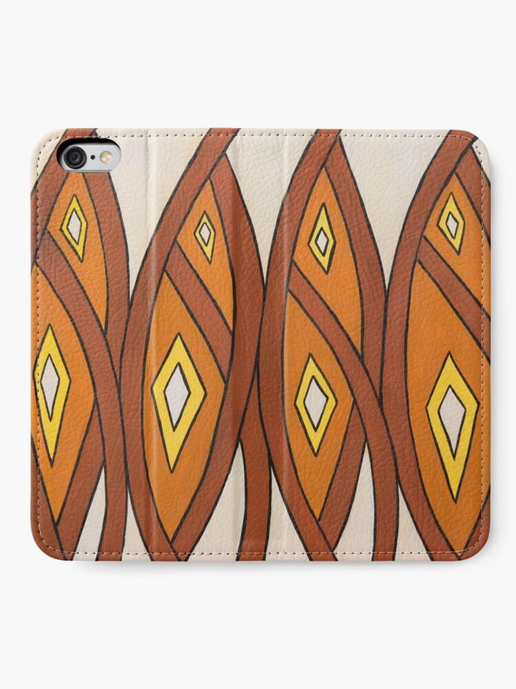 Alternate view of Crocodile Totem Design iPhone Wallet