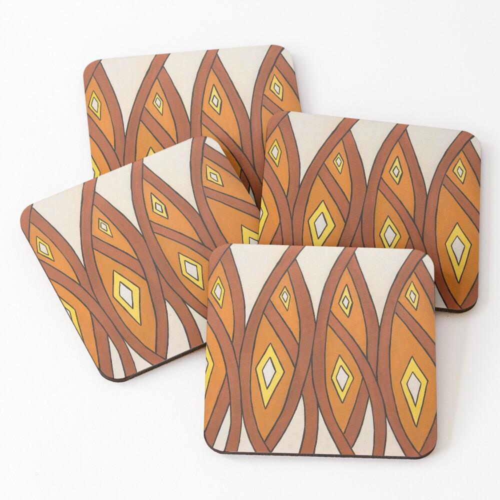 Crocodile Totem Design Coasters (Set of 4)