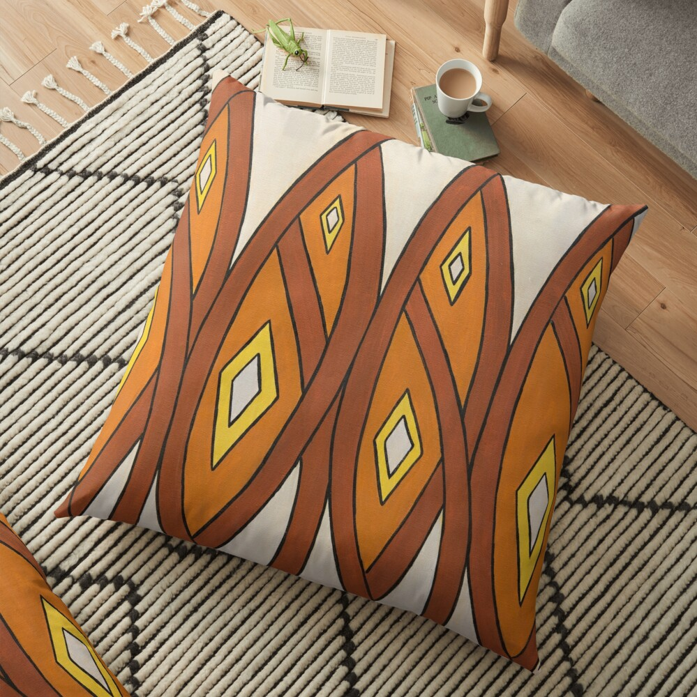 Crocodile Totem Design Floor Pillow