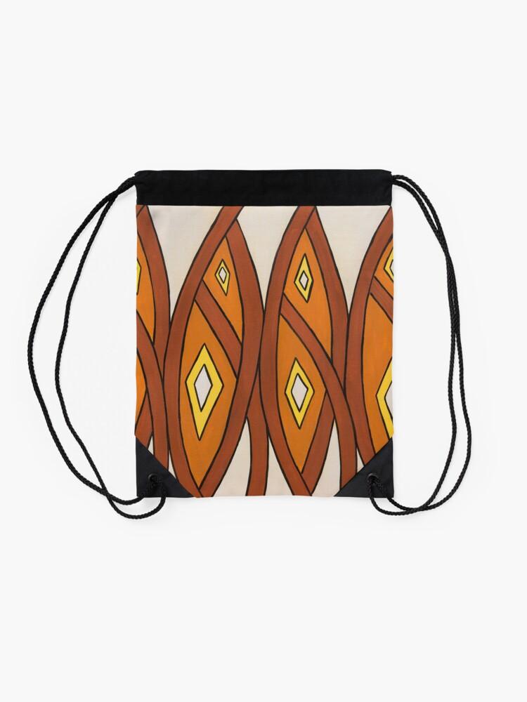 Alternate view of Crocodile Totem Design Drawstring Bag