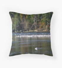 A Colony of Gulls Throw Pillow