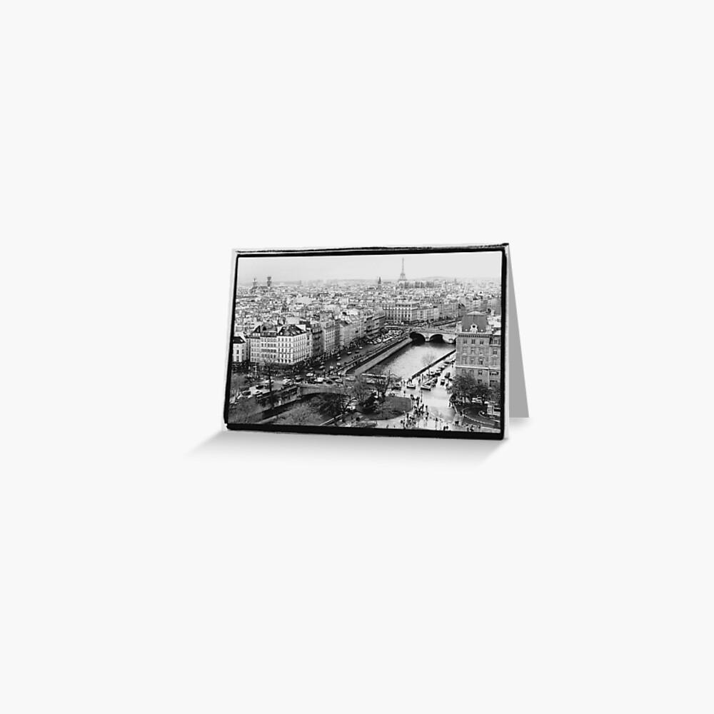 Paris Skyline Tarjetas de felicitación