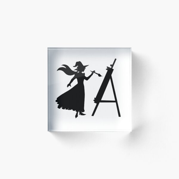A witch's silhouette Acrylic Block