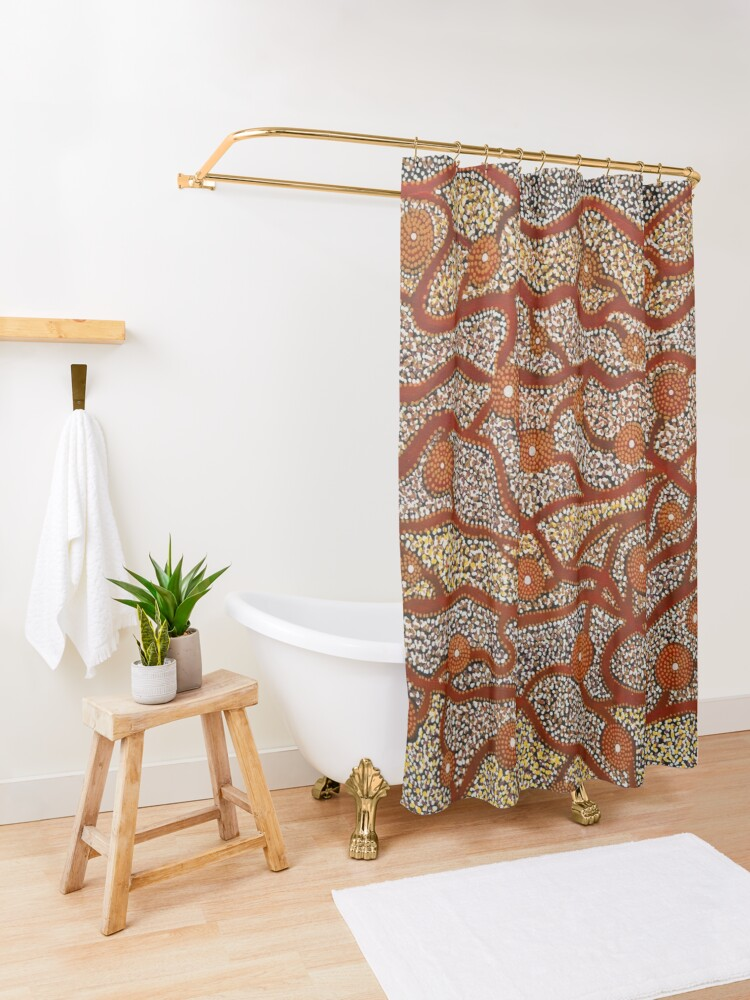 Alternate view of Majestic Mountains Shower Curtain