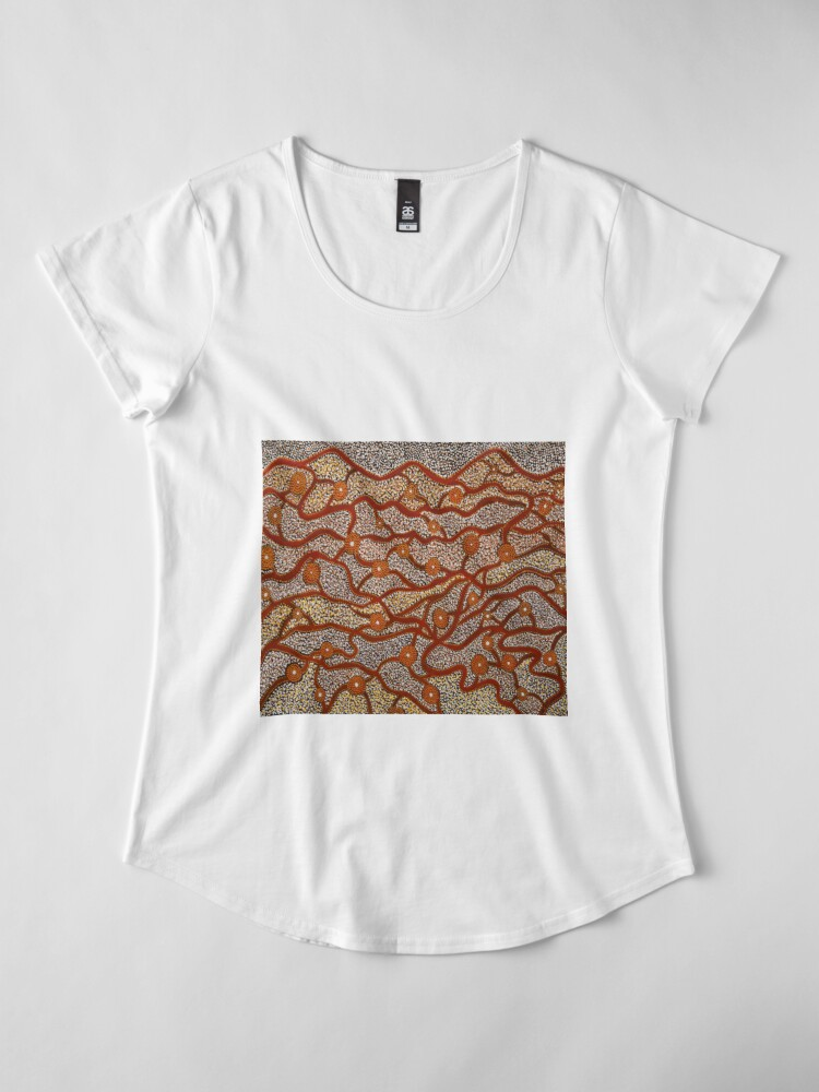 Alternate view of Majestic Mountains Premium Scoop T-Shirt