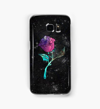 Stained Glass Rose Galaxy Samsung Galaxy Case/Skin