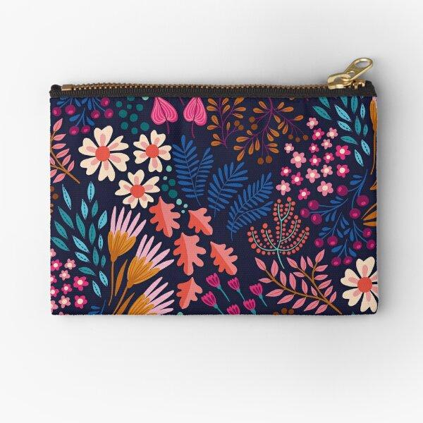BLISS Flower Field Zipper Pouch