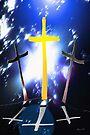 Three Crosses At Calvary by Terri Chandler