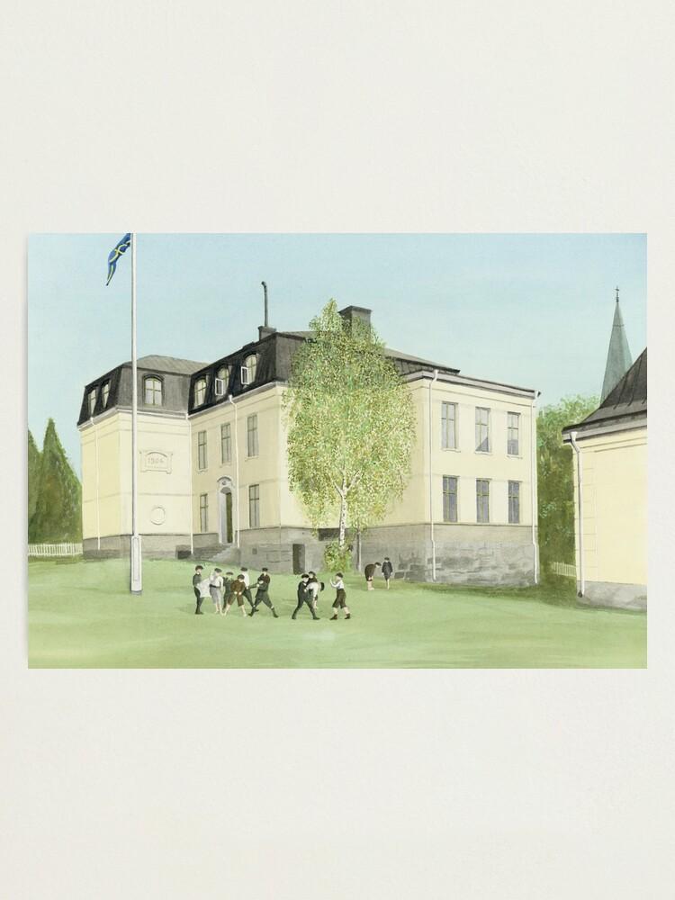 Alternate view of Duvbo School, Sundbyberg, Sweden Photographic Print