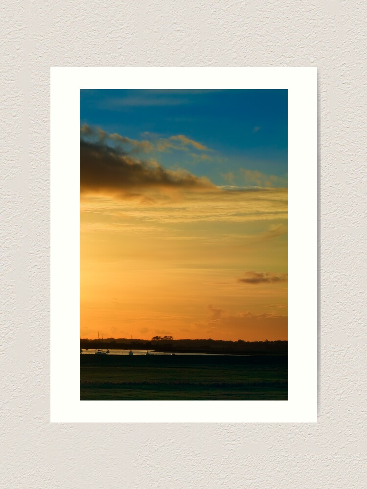 Alternate view of Aldeburgh sunset Art Print