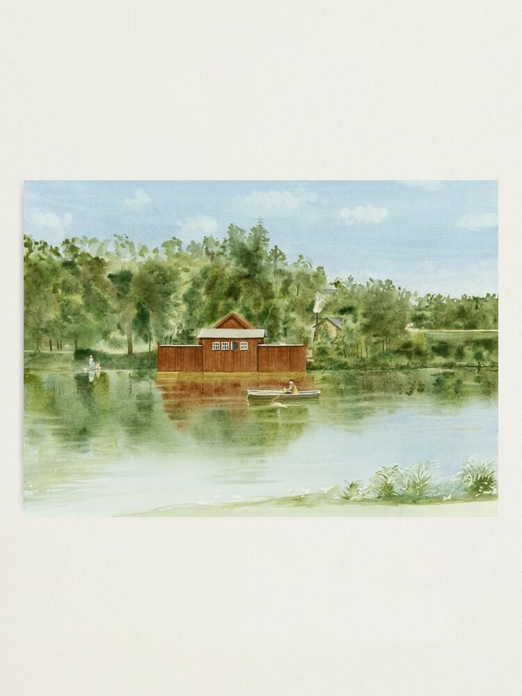 Alternate view of Bathhouse, Lötsjön, Sundbyberg, Sweden Photographic Print