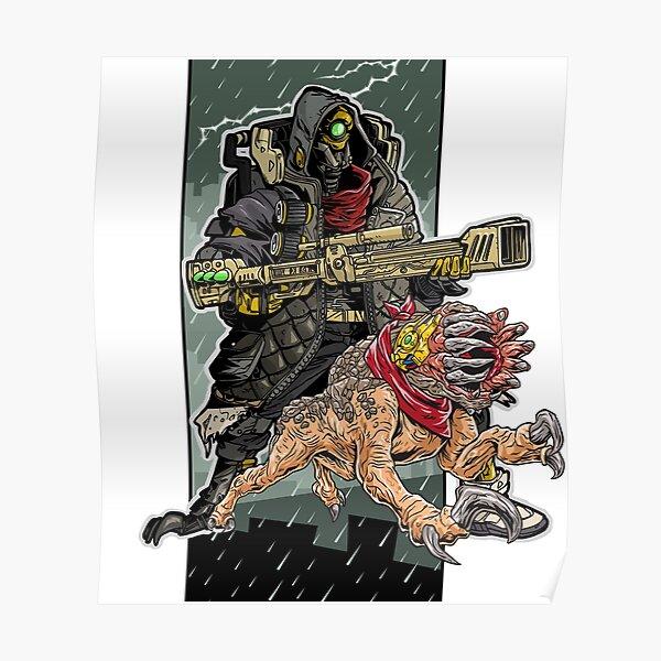 FL4K The Beastmaster With Guard Skag Borderlands 3 Rakk Attack! Poster