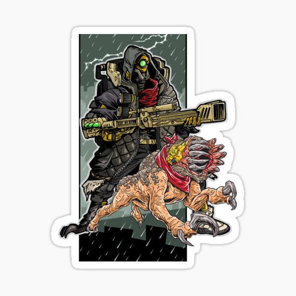 FL4K The Beastmaster With Guard Skag Borderlands 3 Rakk Attack! Sticker