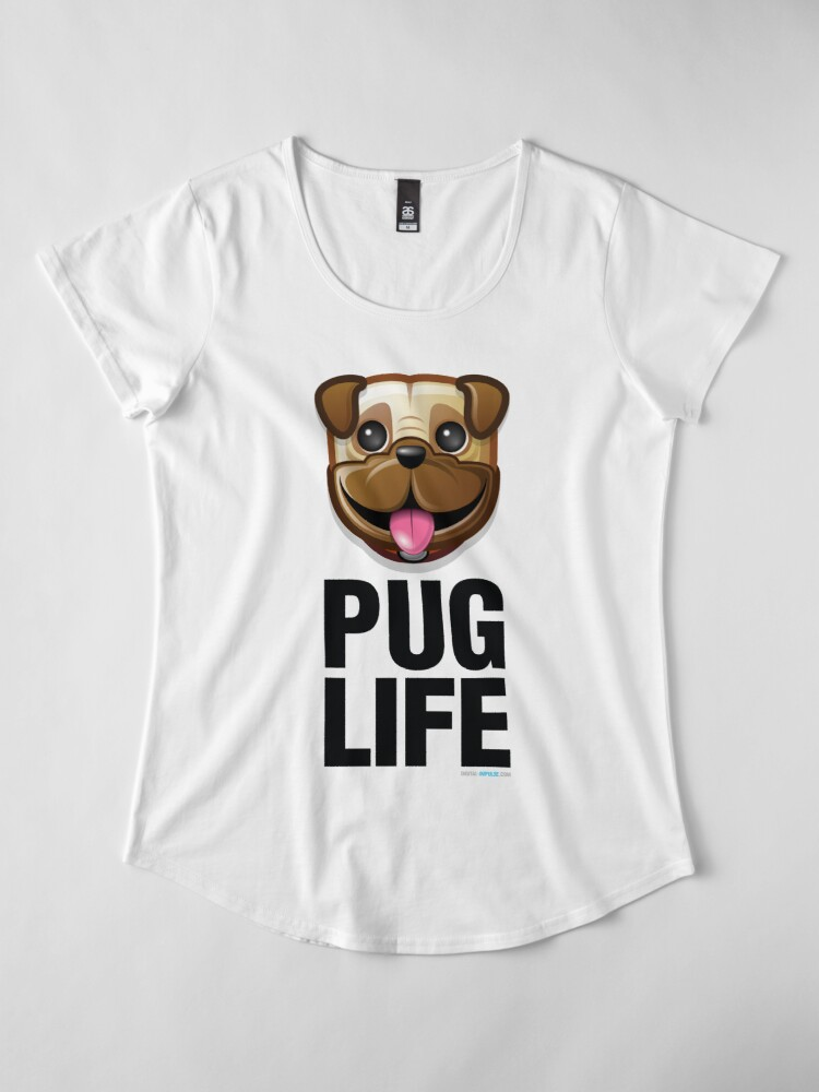 Alternate view of Pug Life Premium Scoop T-Shirt