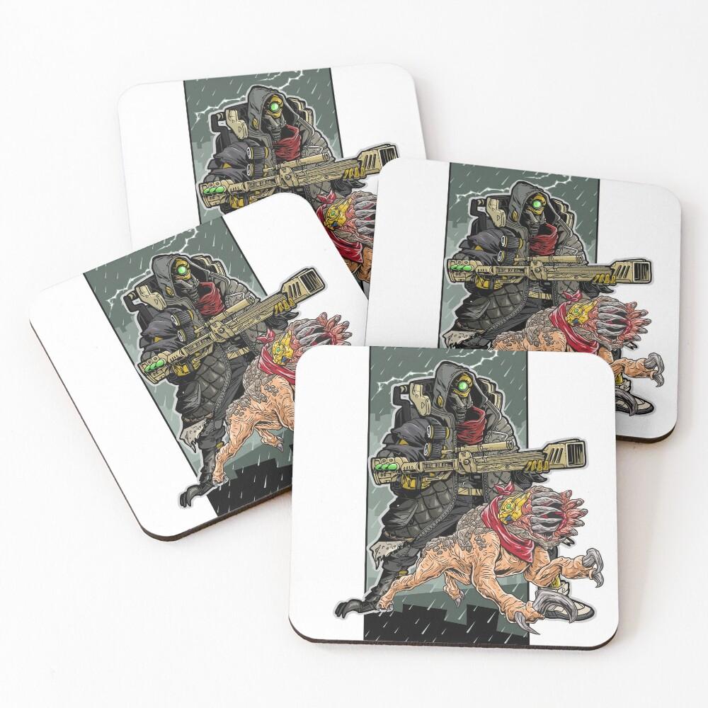 FL4K The Beastmaster With Guard Skag Borderlands 3 Rakk Attack! Coasters (Set of 4)