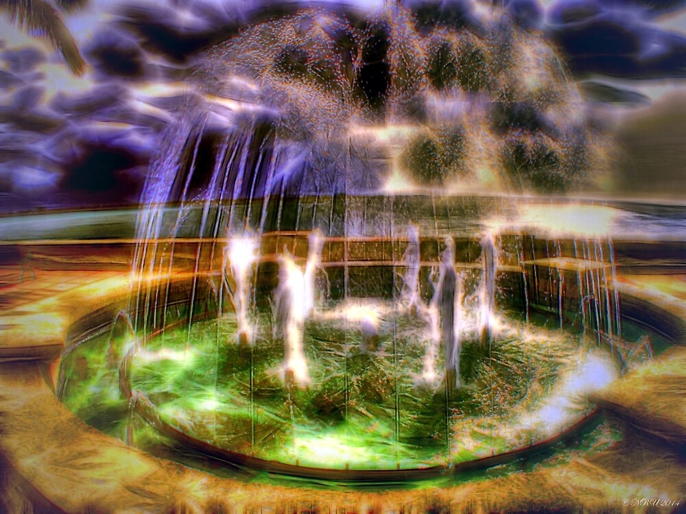Sunrise Fountain by Noble Upchurch