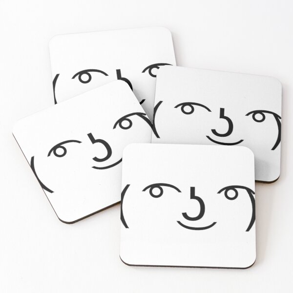Lenny Faces That Work For Roblox Chat Lenny Face Coasters Redbubble