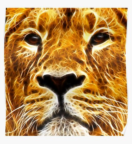A Proud And Intense Stare ~ Fractal ~ Poster