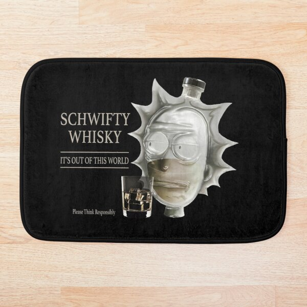 Schwifty Whisky- Rick and Morty 'Get Schwifty' Alcohol Parody Bath Mat