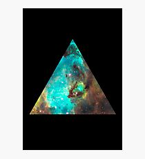 Green Galaxy Triangle Photographic Print