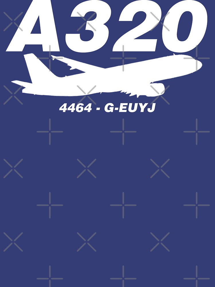 A320 4464 G-EUYJ (White Print) by AvGeekCentral