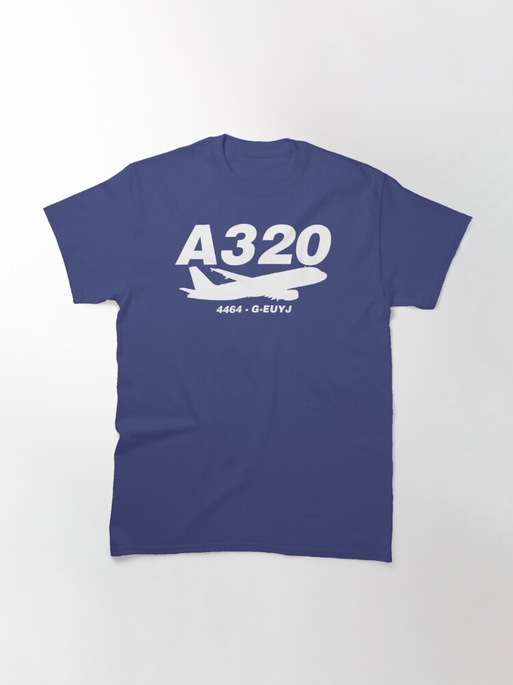 Alternate view of A320 4464 G-EUYJ (White Print) Classic T-Shirt