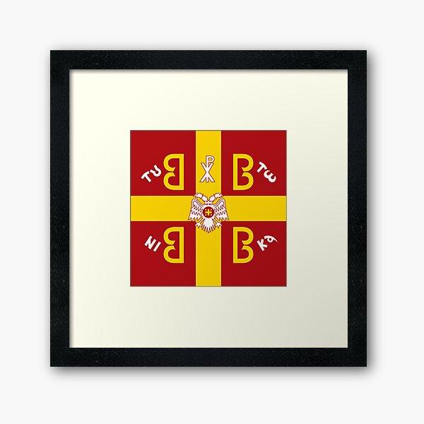 Imperial Byzantine flag Framed Art Print