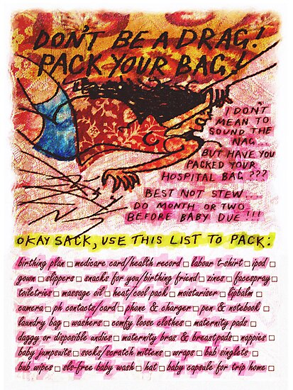 Pregnancy: Don't be a Drag! Pack your Bag! by ellejayerose