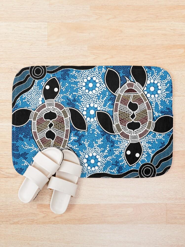 Alternate view of Aboriginal Art Authentic - Sea Turtles Bath Mat