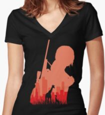The last Hope Women's Fitted V-Neck T-Shirt