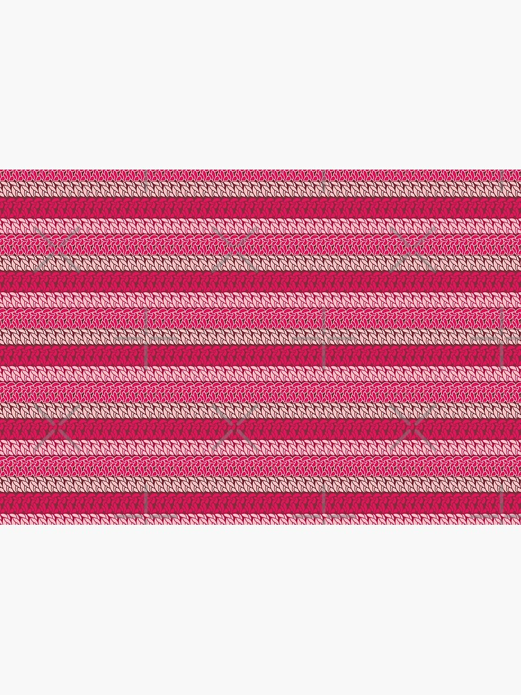 Faux double crochet stitch pattern with pink, wine red and blush pink by nobelbunt