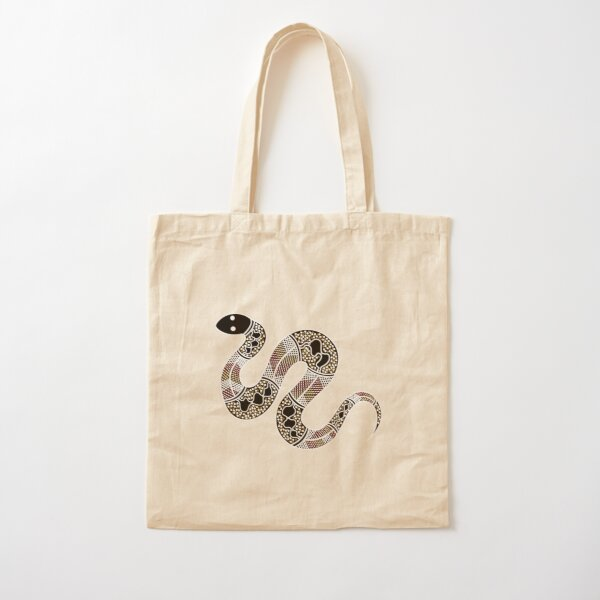Authentic Aboriginal Art - Snake Cotton Tote Bag